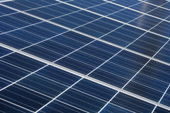 Solar panel background. Solar cell on the panel Royalty Free Stock Photography