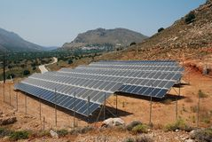 Free Solar Panel Bank, Tilos Royalty Free Stock Photography - 151696667