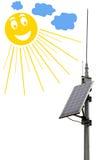 Solar panel battery Stock Photos