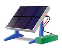 Solar panel and battery Royalty Free Stock Image