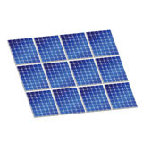 Solar panel in blue color vector illustration Royalty Free Stock Photo