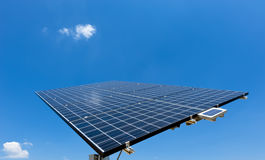 Solar Panel with blue Sky Stock Images