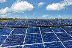 Solar panel on blue sky background Stock Image