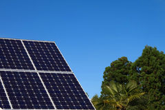 Solar Panel and blue sky Stock Images