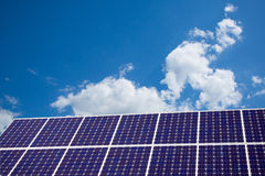 Solar Panel and blue sky Stock Photos
