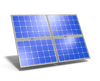 Solar Panel Blue Sky Reflection Royalty Free Stock Image