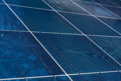 Solar Panel Blue Texture Close Detail Energy Renewable Device Installation Royalty Free Stock Photos