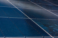Solar Panel Blue Texture Close Detail Energy Renewable Device Installation Stock Photo