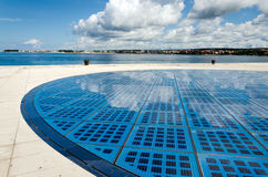 Solar Panel. Blue wide photovoltaic solar panel against sky Zadar Croatia Stock Photography