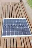 Solar panel built into the city bench Royalty Free Stock Photos