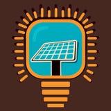 Solar panel in bulb Stock Photos