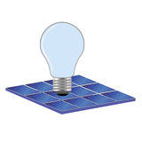 Solar panel and bulb vector illustration Stock Images