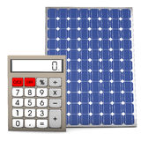 Solar Panel Calculator Stock Photography