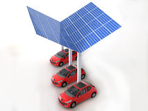 Solar panel for cars. In white background Royalty Free Stock Image