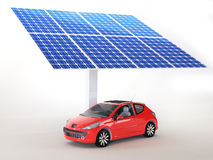 Solar panel for cars Royalty Free Stock Photos