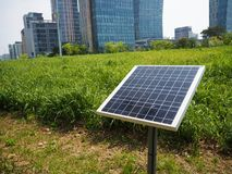 Solar panel in the city Royalty Free Stock Photography