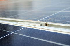 Solar Panel Clamp Royalty Free Stock Photo