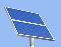 Solar panel on a clear summer day Stock Image