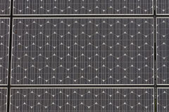 Solar panel close up with raindrops Royalty Free Stock Photos