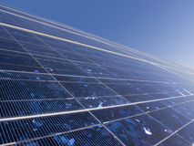 Solar panel closeup Stock Photography