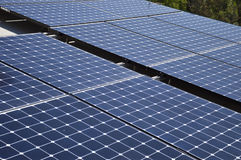 Solar panel. Closeup detail grid of solar panel and tiles Royalty Free Stock Images