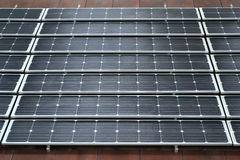 Solar panel. Closeup of solar panels installed on a roof Royalty Free Stock Images