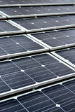 Solar panel. Closeup of solar panels installed on a roof Royalty Free Stock Photos