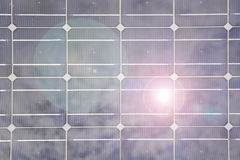 Solar panel closeup Royalty Free Stock Images