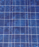 Solar panel closeup Stock Image