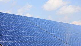 Solar panel with clouds Royalty Free Stock Images