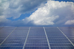 Solar Panel Cloudy Sky Royalty Free Stock Photo