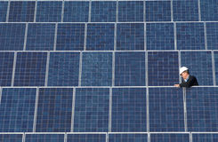 Solar panel collection Royalty Free Stock Photo