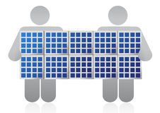 Solar panel competition Royalty Free Stock Photo
