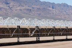 Solar panel construction Stock Photos