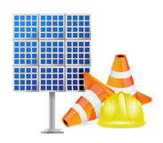 Solar panel construction design Royalty Free Stock Photography