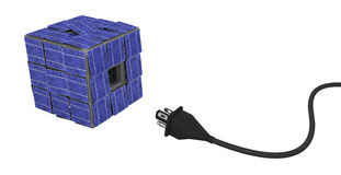 Solar Panel Cube Connection Royalty Free Stock Photo
