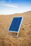 Solar panel in desert stock images