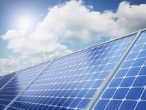 Solar panel on the desert. Sands Royalty Free Stock Photos