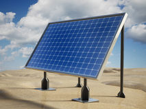 Solar panel on the desert Royalty Free Stock Photography