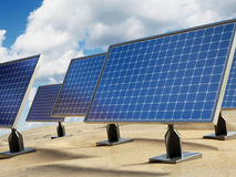 Solar panel on the desert Stock Images