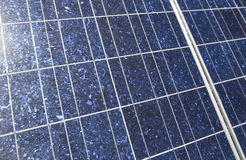 Solar panel detail Royalty Free Stock Images