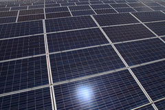 Solar panel detail abstract - renewable energy source. Stock Photos