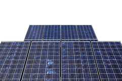 Solar panel detail isolated on white Royalty Free Stock Image
