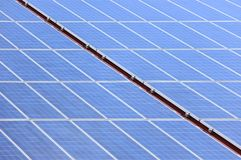 Solar panel diagonal Royalty Free Stock Images