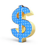 Solar panel dollar sign. On a white background Royalty Free Stock Photography