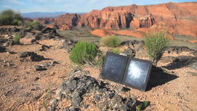 Solar Panel Dolly Shot Right stock footage