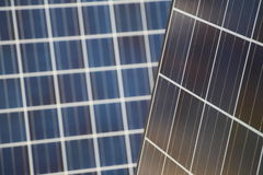 Solar Panel Doubles. Some panels of great quality Royalty Free Stock Photo
