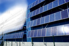 Solar panel drawing Royalty Free Stock Photography