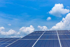 Solar panel ecological  power Royalty Free Stock Images