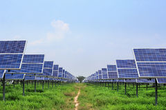 Solar panel ecological  power Stock Photography
